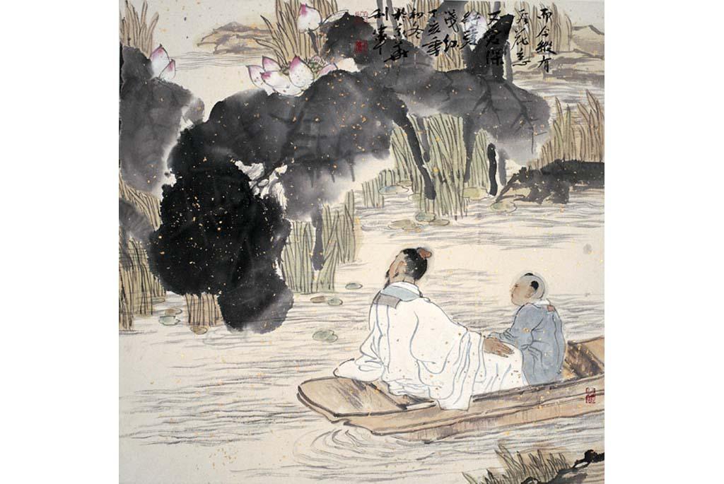 中国书画名人榜 - 作品展示 -不爱深红爱浅红